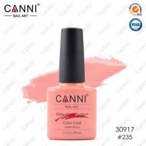Гель-лак Canni №235 телесный розово-персиковый