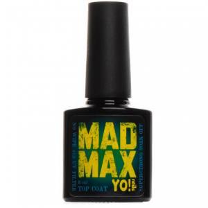 Супер стойкий топ без липкого слоя Yo!Nails Mad Max с UV фильтром, 8 мл