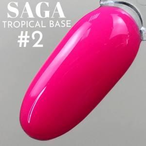База цветная для гель-лака Saga Professional Tropical Base №02