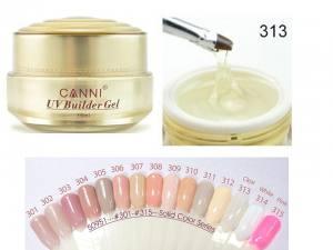 Гель для ногтей Canni UV Builder Gel Clear 313 прозрачный 15г