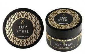 Топ F.O.X Top Steel стальной закрепитель для гель-лака, 30 мл без липкого слоя