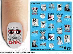 Слайдер-дизайн для ногтей New Max CW-95