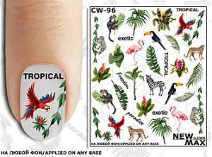 Слайдер-дизайн для ногтей New Max CW-96