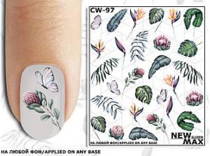 Слайдер-дизайн для ногтей New Max CW-97