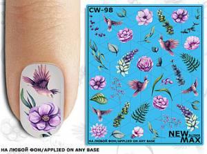 Слайдер-дизайн для ногтей New Max CW-98