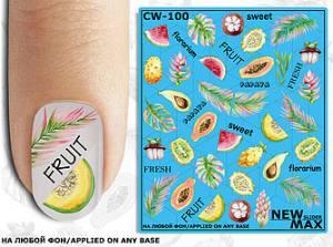 Слайдер-дизайн для ногтей New Max CW-100