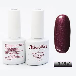 Гель-лак Miss Mary 8ml № 318v ( вишнёвые блёстки )