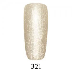Гель-лак Adore Professional 7,5 мл №321 серебристо-снежный с микроблеском