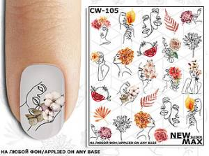 Слайдер-дизайн для ногтей New Max CW-105