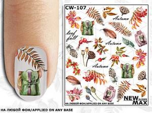Слайдер-дизайн для ногтей New Max CW-107