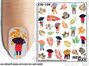 Слайдер-дизайн для ногтей New Max CW-109