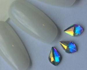 Стразы фигурные стекло crystal AB капля №33-4-8,5 1шт