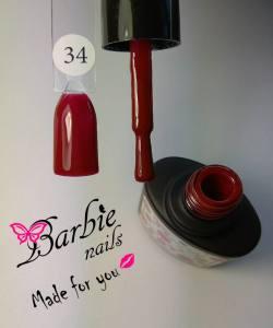Гель-лак Barbie Nails №34 глубокий красный