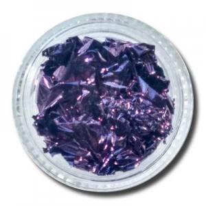 Фольга жатая в банке темно-фиолетовая
