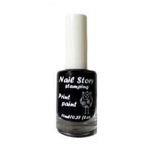 Лак для стемпинга Nail story черный 11мл
