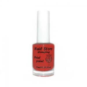 Лак для стемпинга Nail story №3 красный 11мл