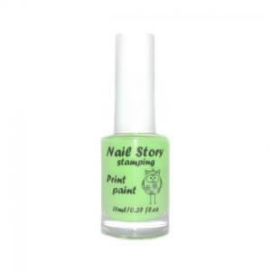 Лак для стемпинга Nail story №14 салатовый 11мл