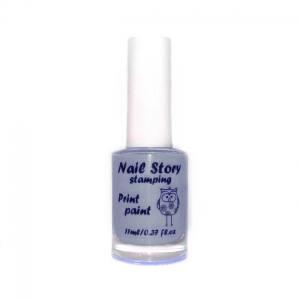 Лак для стемпинга Nail story №6 серый 11мл