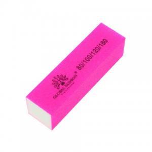 Бафф Global 4-х сторонний розовый 80\100\120\180