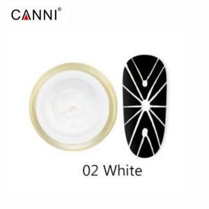 Гель-паутинка Canni №2, белый | 3D Embossing gel