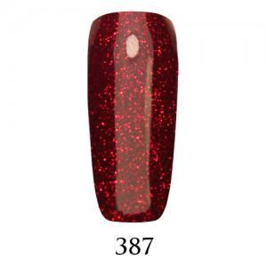 Гель-лак Adore Professional 7,5 мл №387 красная герань с глиттером