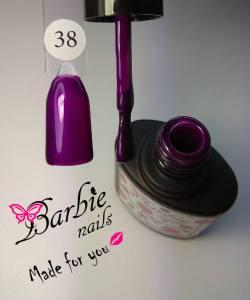 Гель-лак Barbie Nails №38 фиолетово-сиреневый микроблеск