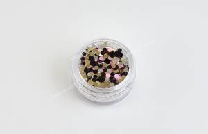 Конфетти для дизайна ногтей Mart №3 гламурный блеск