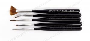 Набор кистей для росписи YRE  5штук черная ручка