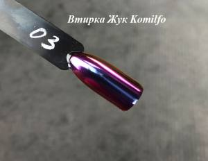Komilfo втирка Жук №003 (фиолетово-розово-золотой), 0,5 г