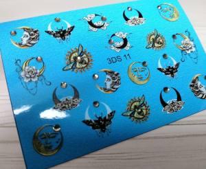 3D слайдер для ногтей со стразами 3DS11