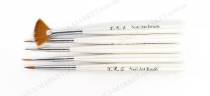 Набор кистей для росписи YRE  5штук белая ручка