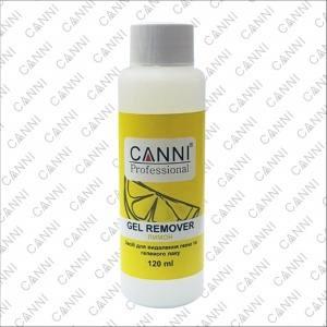 Жидкость для снятия гель-лака Canni Gel remover лимон, 120 ml