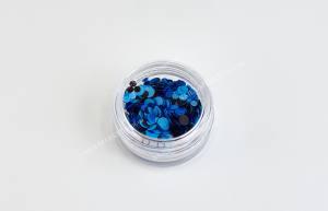 Конфетти для дизайна ногтей Mart №10 синее море
