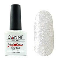 Гель-лак Canni №220 белое серебро с голографическим блеском