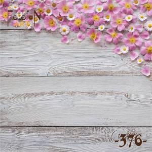Фотофон виниловый 30см/30см Цветы на сером дереве №376