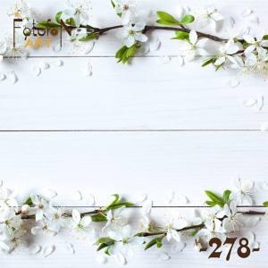 Фотофон виниловый 30см/30см Цветущая яблоня №278