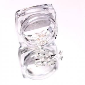 Komilfo Металлические Текстурные Заклепки серебро прямоугольник большой, 2*4 мм, 50 шт