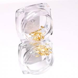 Komilfo Металлические Текстурные Заклепки золото прямоугольник маленький, 1,5*3 мм, 50 шт