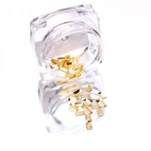 Komilfo Металлические Текстурные Заклепки Золото прямоугольник большой, 2*4 мм, 50 шт