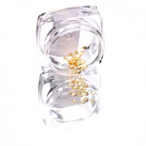 Komilfo Металлические Текстурные Заклепки золото круг большой, 2 мм, 50 шт