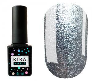 Гель-лак Kira Nails 24 Karat №001 (серебро с большим количеством блесток), 6 мл