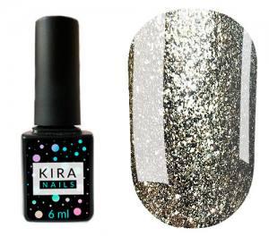Гель-лак Kira Nails 24 Karat №003 (белое золото с большим количеством блесток), 6 мл