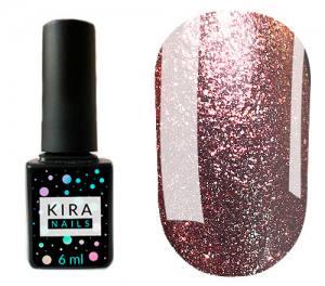 Гель-лак Kira Nails 24 Karat №006 (розовое золото с большим количеством блесток), 6 мл