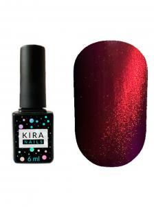 Гель-лак Kira Nails Cat Eye №003 (красно-фиолетовый, магнитный), 6 мл
