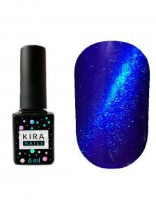 Гель-лак Kira Nails Cat Eye №008 ( насыщенный синий, магнитный), 6 мл