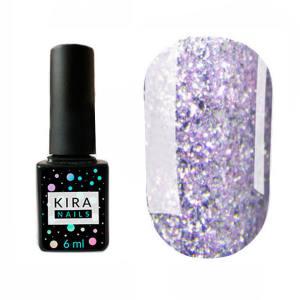 Гель-лак Kira Nails Shine Bright №009 (сиреневый с блестками), 6 мл