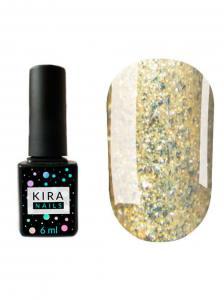 Гель-лак Kira Nails Shine Bright №005 (золото с блестками), 6 мл