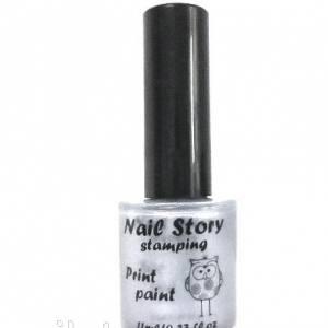 Лак для стемпинга Nail story серебро 11мл