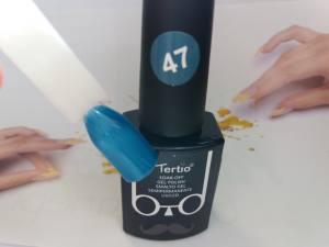 Гель-лак Tertio Baffo 10мл №47 сине-бирюзовый