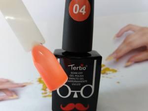 Гель-лак Tertio Baffo 10мл №4 оранжевый неон